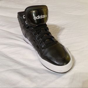 Adidas Black High Tops Cheetah & Leather Neo Label